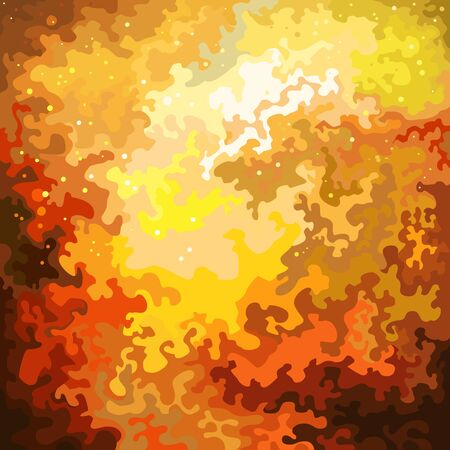Abstract painted fire background with flying sparks. Vector image 矢量图像