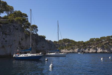 location shot: France,Bouche du Rhone,Les Calanques,View of Port Miou