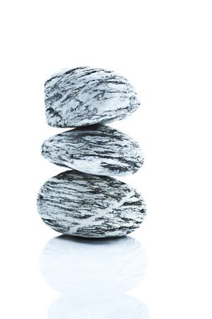 marmorate: Marble stones on white background