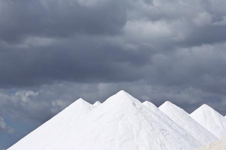 Spain,Mallorca,Salt hills at Salines de Llevant LANG_EVOIMAGES