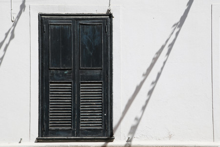without windows: Spain,Menorca,Closed window shade