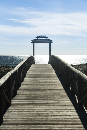 location shot: Spain, Andalusia, Barbate, Jetty at the sea LANG_EVOIMAGES