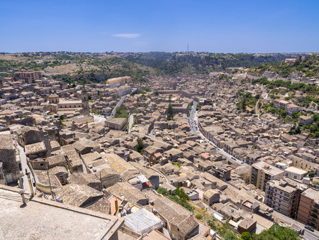 ragusa: Italy, Sicily, Modica, view to the city from above