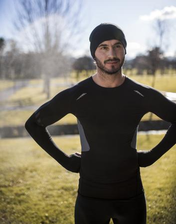 motivations: Spain, Gijon, confident athlete in park