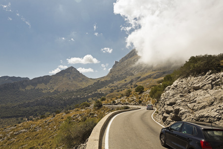 mountaintops: Spain, Majorca, Serpentine road in the Tramuntana mountains LANG_EVOIMAGES