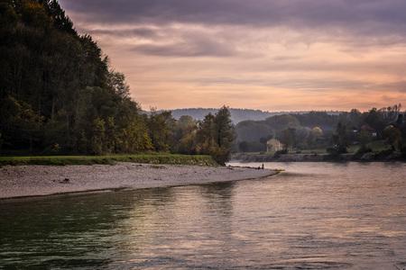 salzach: Germany, Bavaria, River Salzach between Raitenhaslach and Burghausen