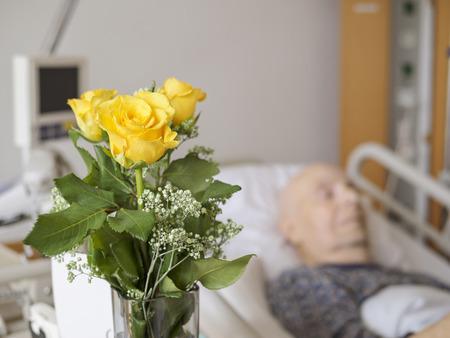 nursing unit: Senior man at palliative care unit
