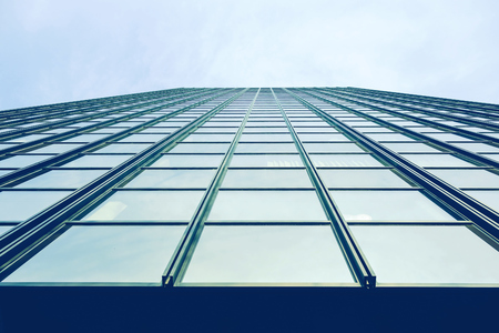 without windows: Germany, Dortmund, glass facade of an office building