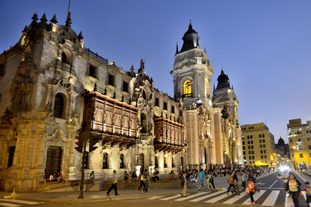 Peru, Lima, UNESCO world heritage site, Basilica Cathedral of Lima LANG_EVOIMAGES