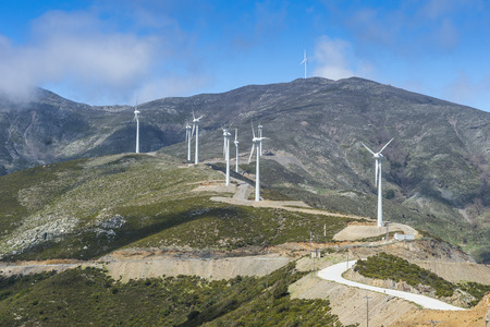 mountaintops: Greece, Crete, Wind farm in the mountains