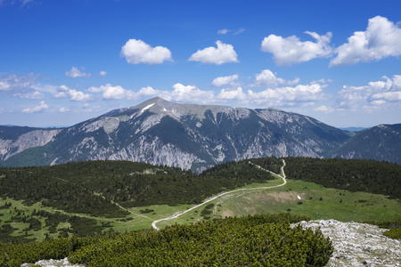 Austria, Lower Austria, Vienna Alps, View from Jakobskogel to Schneeberg LANG_EVOIMAGES