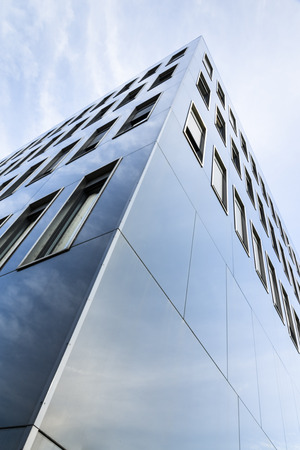 without windows: Germany, Munich, facade of modern office buliding