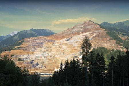 steiermark: Austria, Styria, View to Erzberg mine