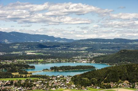 Austria, Carinthia, view on Lake Faak