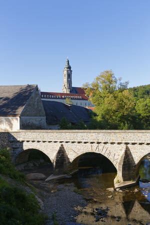 Austria, Lower Austria, Zwettl Abbey and river Kamp LANG_EVOIMAGES