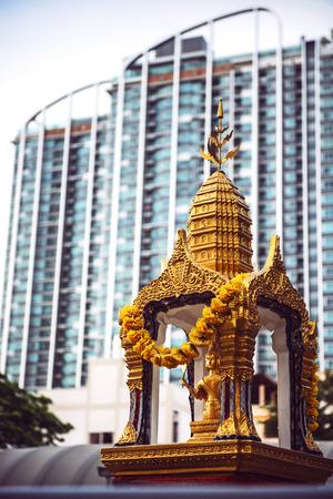 Thailand, Bangkok, Phra Phrom altar LANG_EVOIMAGES