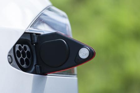 Open tank cap of an electric car