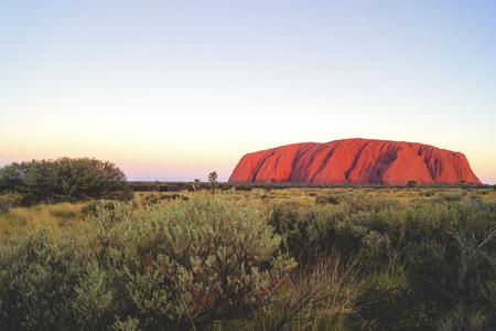 Australia, Northern Territory, Yulara, Uluru, Ayers Rock in the evening light LANG_EVOIMAGES