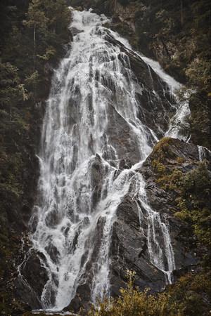 Austria, East Tyrol, Hohe Tauern National Park, Kals am Grossglockner, waterfall