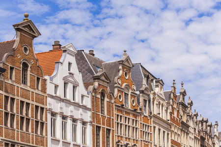 Belgium, Brussels, historical houses, row of houses LANG_EVOIMAGES