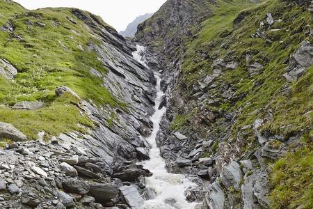 Austria, East Tyrol, Hohe Tauern National Park, waterfall