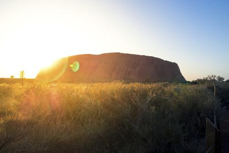 Australia, Northern Territory, Yulara, Uluru, Ayers Rock at sunrise