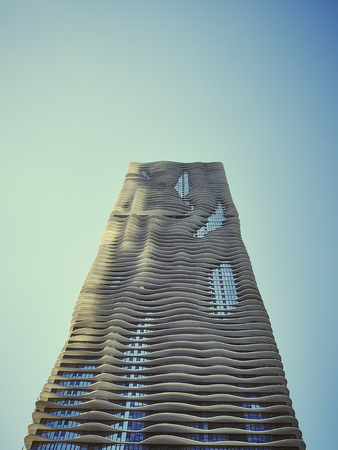 USA, Illinois, Chicago, Aqua Tower, High-rise residential building LANG_EVOIMAGES