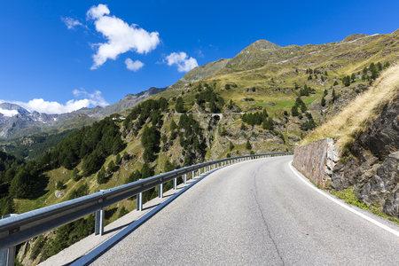 street shot: Italy, South Tyrol, Passeier Valley, mountain pass Timmelsjoch