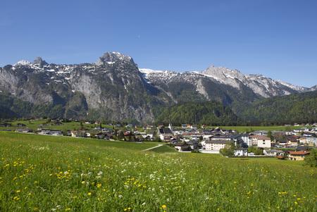 Austria, Salzburg State, Abtenau with Tennen Mountains