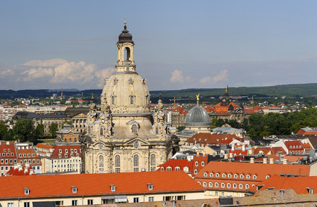 dresden: Germany, Saxony, Dresden, Old town, View to Church of Our Lady