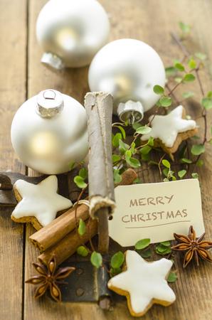 Christmas decoration with cinnamon stars