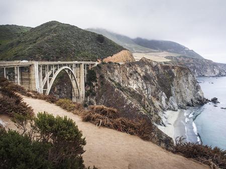 USA, California, Pacific Coast, National Scenic Byway, Big Sur Coastline, Bixby Bridge