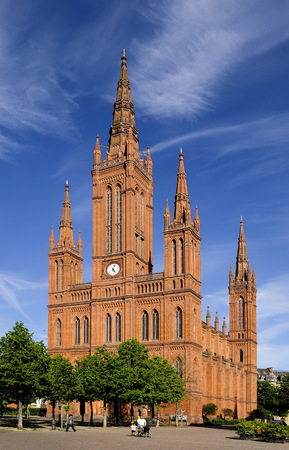 gothic revival: Germany, Hesse, Wiesbaden, Market Church