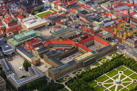 residenz: Germany, Bavaria, Munich, Hofgarten and Theatiner Church at Odeonsplatz