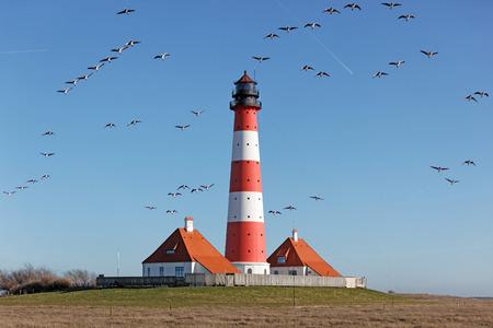 westerheversand: Germany, North Frisia, Westerhever, Westerheversand Lighthouse
