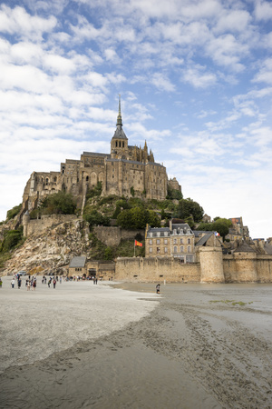 France, view to Mont Saint-Michel at low tide