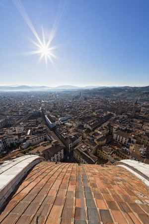 Italy, Tuscany, Florence, City view against the sun