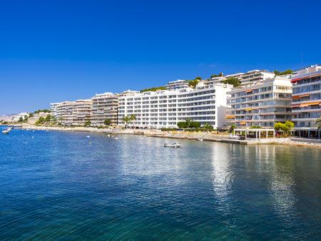 mallorca: Spain, Mallorca, Santa Ponca, Hotels at beach LANG_EVOIMAGES