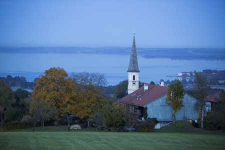 Germany, Bavaria, Chiemgau, Hittenkirchen, Lake Chiemsee