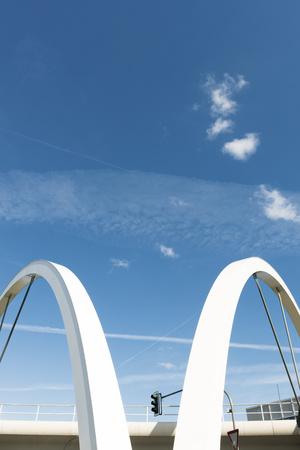 Germany, Duesseldorf, flyover bridge