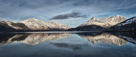panoramas: United Kingdom, Scotland, Loch Linnhe and Pap of Glencoe mountain, Panorama