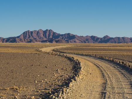 Africa, Namibia, Hardap, Mountain in Kulala Wilderness Reserve at Namib desert