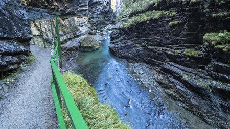 steep: Germany, Bavaria, Allgaeu, Breitachklamm gorge