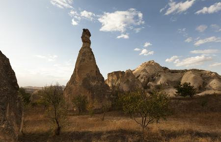 Turkey, Cappadocia, rock formations in autumn