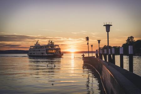 Germany, Meersburg, Ferry between Constance and Meersburg