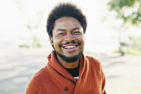 Portrait of happy young man with