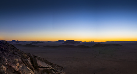 Africa, Namibia, Hardap, Hammerstein, Tsaris Mountains in the evening