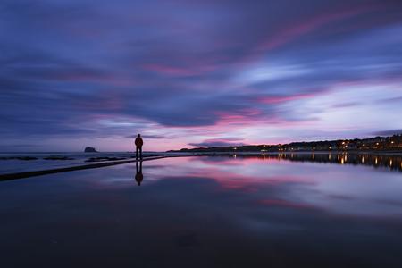 United Kingdom, Scotland, East Lothian, North Berwick at sunrise