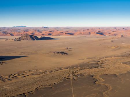 Africa, Namibia, Kulala Wilderness Reserve, Tsaris Mountains, Sossusvlei, Region Hardap, Namib desert at sunrise
