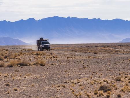 Africa, Namibia, Region Sossusvlei, Hammerstein, Tsaris Mountains, Namib desert, landrover